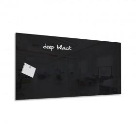 Uhľovo čierna magnetická sklenená tabuľa LABORO