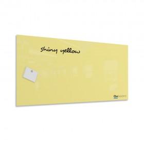 Žiarivá žltá magnetická sklenená tabuľa LABORO